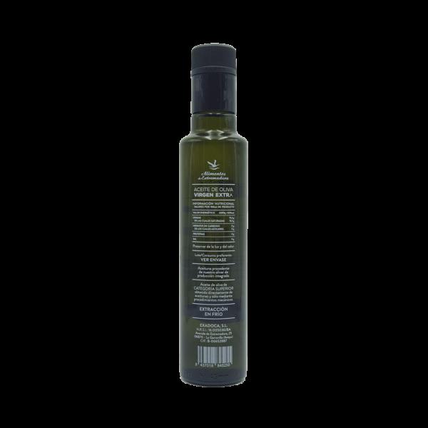 Imagen de una Botella de AOVE Dorica 250ml Aceites Alguijuela