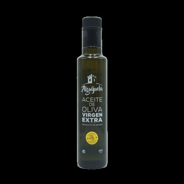 Imagen de una botella de AOVE Dorica 250ml Variedad Arbosana Aceites Alguijuela