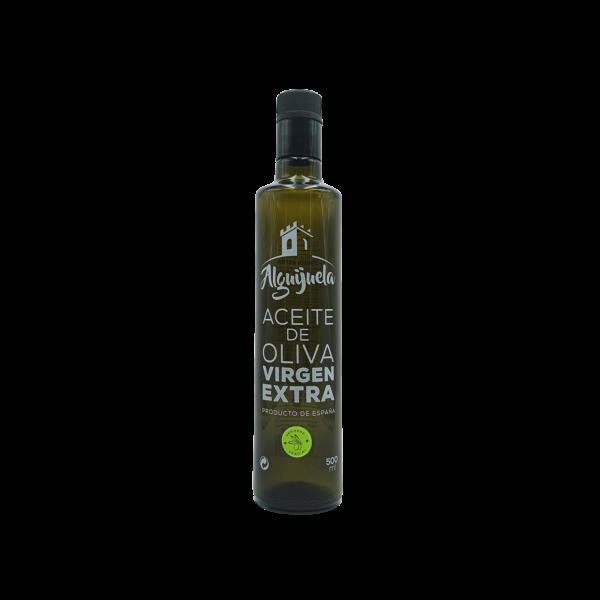 Imagen de una Botella de AOVE Dorica 500ml Variedad Verdial Aceites Alguijuela