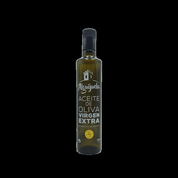 Imagen de una botella de AOVE Dorica 500ml Variedad ArbosanaAceites Alguijuela