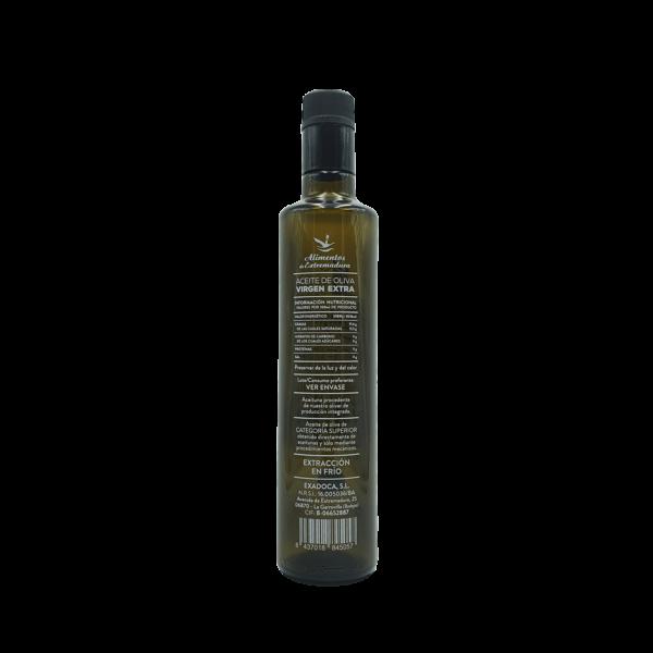 Imagen de una botella de AOVE Dorica 500ml Aceites Alguijuela