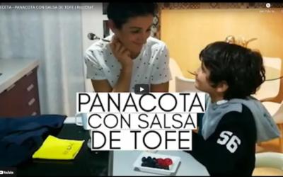 LA RECETA DE HOY ES PANACOTA CON SALSA DE TOFE 🍮
